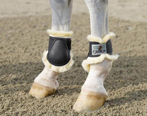 Eskadron protection fetlock boots with sheepskin