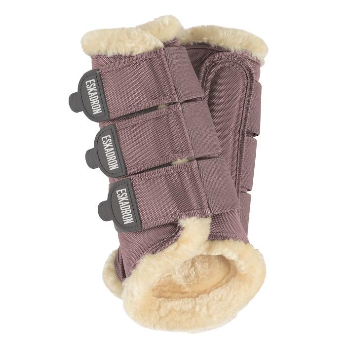 Faux Fur Tendon boots mauve
